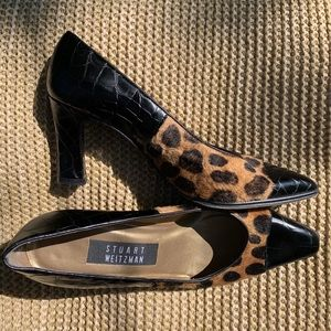 Stuart weitzman crocodile and leopard heels